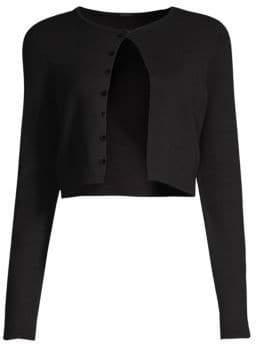Black Rosie Merino Wool Bolero Cardigan