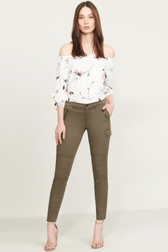 Dynamite Kate Khaki Skinny Cargo Jeans with Zippers