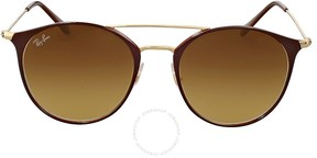 Ray-Ban Brown Gradient Cat Eye Sunglasses