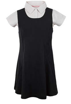 U.S. Polo Assn. USPA Short-Sleeve Layered Knit Dress - Girls 7-16