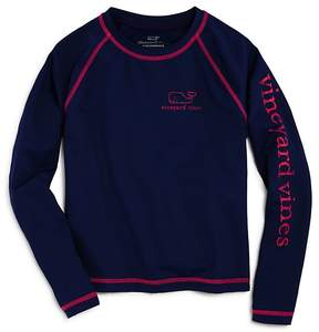 Vineyard Vines Girls' Vintage Whale Rash Guard - Little Kid