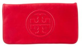 Tory Burch Leather Reva Clutch - RED - STYLE
