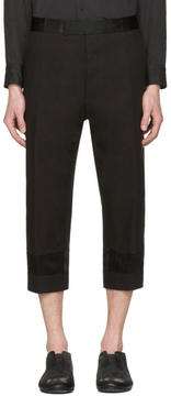 Haider Ackermann Black Tuxedo Trousers