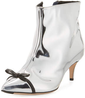 Marco De Vincenzo Metallic Point-Toe Bow Boot