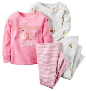 Carter's Baby Clothing Outfit Girls 4-Piece Snug Fit Cotton PJs Dance First 9M