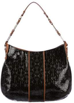 Tory Burch Embossed Patent Leather Hobo - BROWN - STYLE