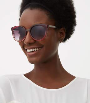 LOFT Ombre Round Sunglasses