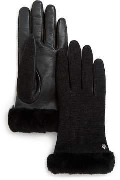 UGG Shearling Sheepskin Cuffed Tech Gloves