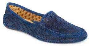 Patricia Green Barrie Perforated Suede Loafers