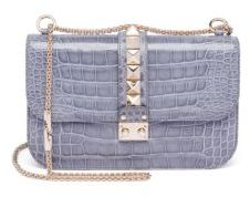 VALENTINO GARAVANI Rocklock Medium Crocodile Crossbody Bag