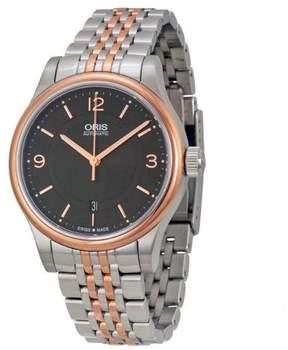 Oris Classic 01 733 7594 4334 Date Black Dial Two-Tone 42mm Mens Watch