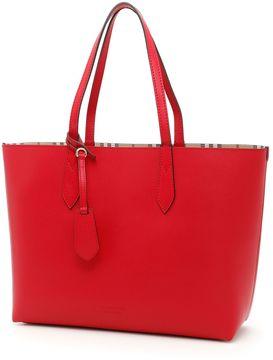 Burberry Medium Reverse Shopping Bag - POPPY RED|ROSSO - STYLE