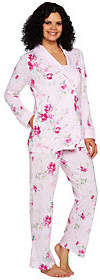 Carole Hochman Blooming Meadow Ultra Jersey 3-Piece Pajama Set