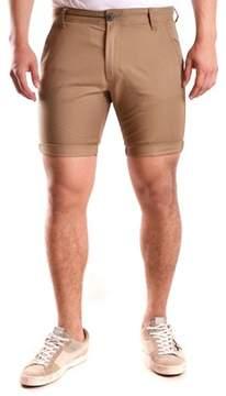 Selected Men's Brown Cotton Shorts.