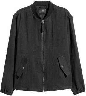 H&M Linen Bomber Jacket