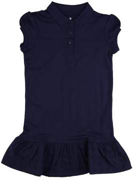 Chaps Girls 4-6x School Uniform Ruffled Polo Shirt Dress