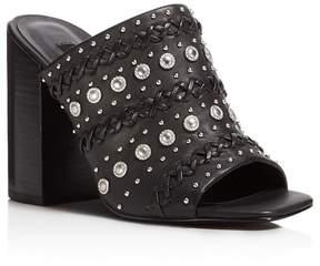 Senso Niko Embellished High Heel Slide Sandals