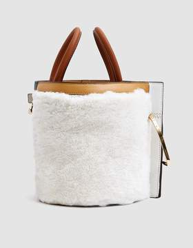 Lente Danse Bobbi Curly Shearling Bucket Bag