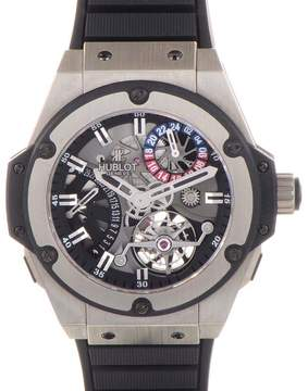 Hublot King Power Tourbillon Silver Dial Zirconium Rubber Strap Men's Watch