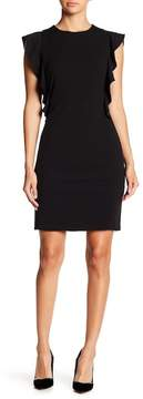 Donna Morgan Ruffle Crepe Sheath Dress