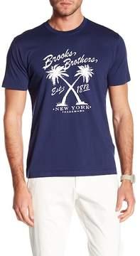 Brooks Brothers Vintage Palm Crew Neck Tee