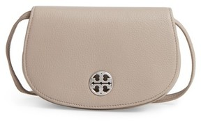 Tory Burch Mini Jamie Leather Crossbody Bag - Grey