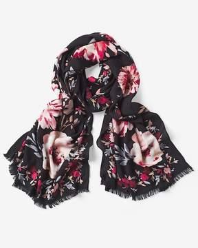 White House Black Market Floral Oblong Scarf