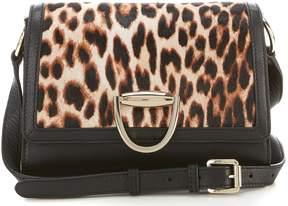 Vince Camuto Kirsi Leopard Haircalf Cross-Body Colorblock Bag