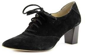 Adrienne Vittadini Namar Women Pointed Toe Suede Black Bootie.