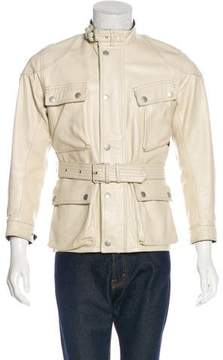 Belstaff Leather Field Jacket
