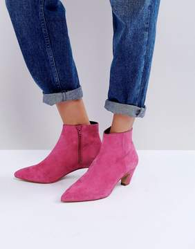 Asos REANNE Suede Kitten Heeled Boots