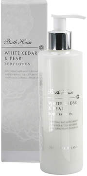 Bath House White Cedar + Pear Body Lotion by 260ml Lotion)
