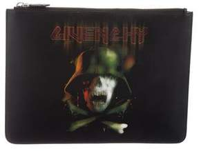 Givenchy Army Skull Large Leather Pouch