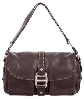 Hogan Grained Leather Shoulder Bag
