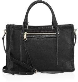 Rebecca Minkoff Regan Leather Satchel - BLACK - STYLE