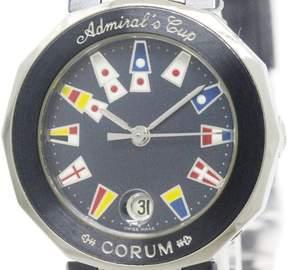 Corum Admirals Cup 39.610.30 Stainless Steel Blue Dial Quartz 27mm Womens Watch