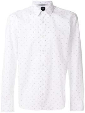 HUGO BOSS anchor microprint shirt