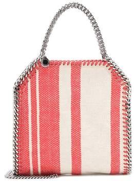 Stella McCartney Falabella striped canvas tote