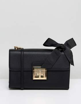 Aldo X Body Bag with Chain Strap and Bow Detail in Black