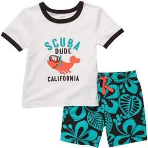 Carter's Scuba Dude Lobster T-Shirt Set (3 Months)