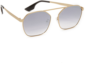 McQ Alexander McQueen Hexagon Brow Bar Sunglasses