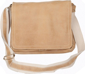 David King 6111 Distressed North/South Messenger Bag