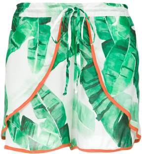 BRIGITTE foliage print shorts