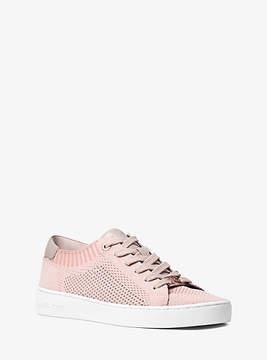 Michael Kors Skyler Leather And Knit Sneaker