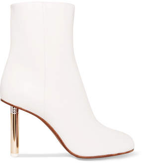 Vetements Leather Ankle Boots - White
