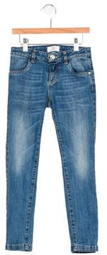 Versace Girls' Four-Pocket Skinny Jeans