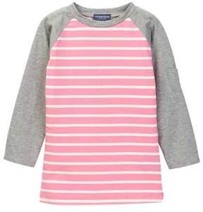 Toobydoo Jemma Long Sleeve Striped Raglan Tee (Toddler, Little Girls, & Big Girls)