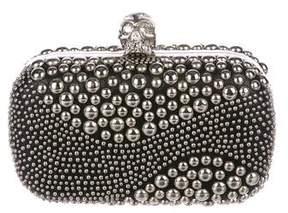 Alexander McQueen Studded Skull Box Clutch