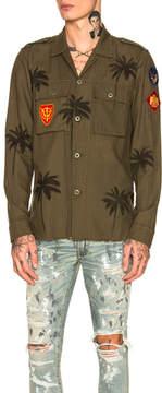 Amiri Palm Military Shirt