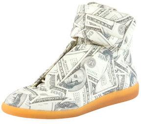 Maison Margiela Future Money High-Top Grip Sneaker, Green Pattern